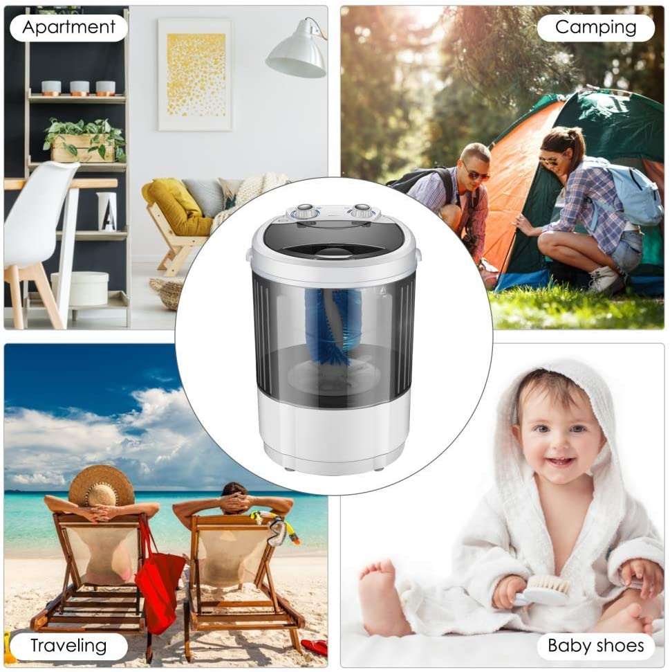 VOGOUS Portable Shoes Washing Machine Mini Portable Washing Machine Smart Lazy Automatic Shoes Washer Suitable for Apartments Camping Dorms Business Trip College Rooms