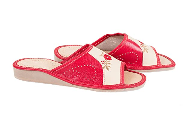 Natural Women's Eco Leather Slippers, Flip-Flops, Mules With Orthopedic  Insole Design All UK: Amazon.co.uk: Shoes & Bags