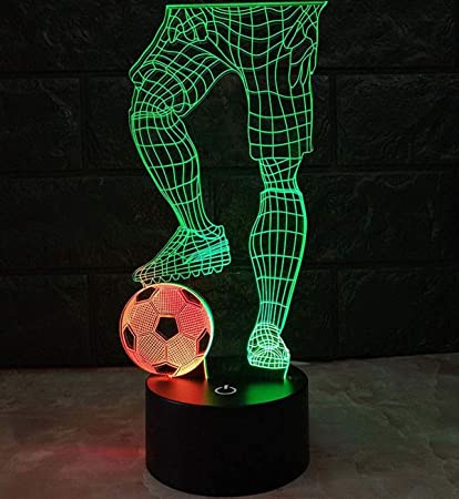 Amazon.com: AMZStar Two-Tone 3D LED Lamp Play Football Touch ...