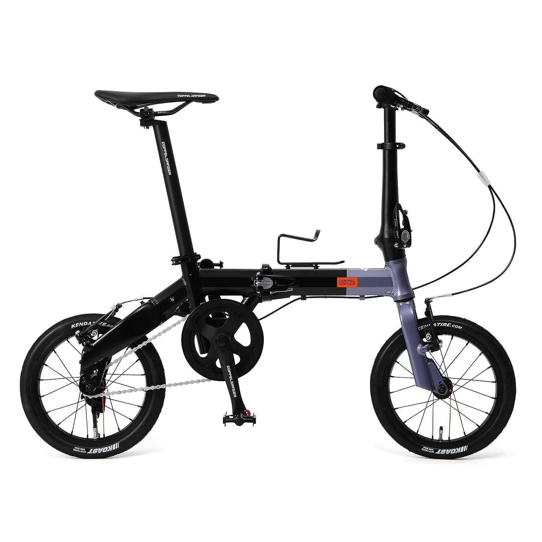 DOPPELGANGER(ドッペルギャンガー) 14インチ 折りたたみ自転車 [Hakoveloシリーズ] 超軽量アルミフレーム 7.7kg オーバーサイズ ロングシートポスト 採用 140-H-GY   B07B99LMWM