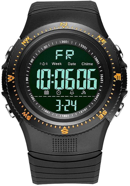Digilog Hyper Sports Activewear Black & Orange Digital Multi Function Watch for Men & Boys (Day, Date, Alarm, Backlight, Stopwatch & More)