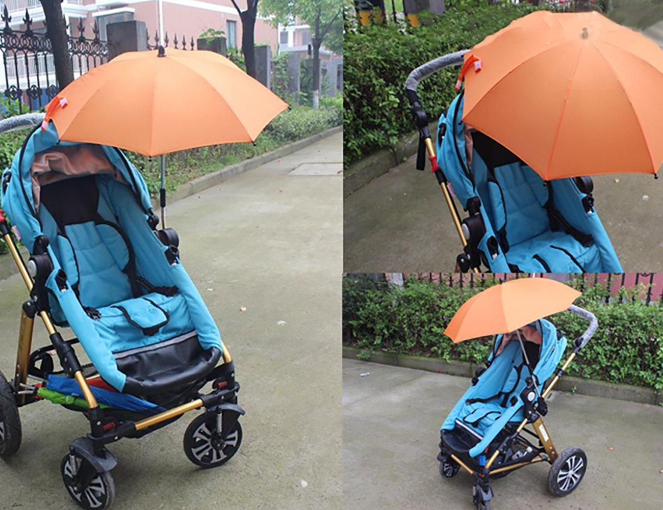Ti lluvia sombrilla parasol estirable silla de ruedas para carrito de bebé silla de paseo Cochecito paraguas holder clip Clamp: Amazon.es: Jardín