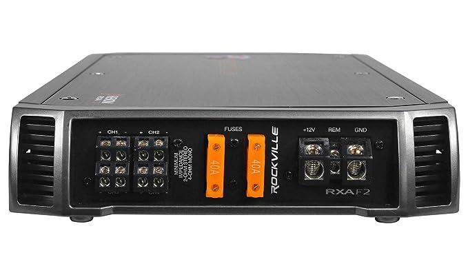 Amazon.com: Rockville RXA-F2 2400 Watt Peak / 1200w RMS 4 Channel Amplifier Car Stereo Amp: Car Electronics