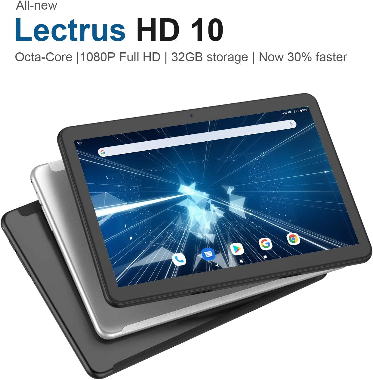 "Lectrus Tablet Android 9.0 (10.1"" 1080p Full HD Display, Octa-Core,5G WiFi Tablets,32GB) – Black"