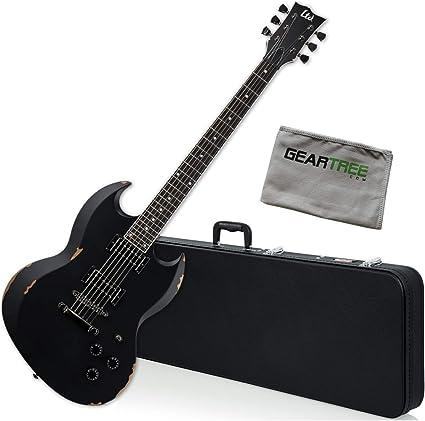 ESP LTD VOLSUNG - Guitarra eléctrica con lágrimas negras ...