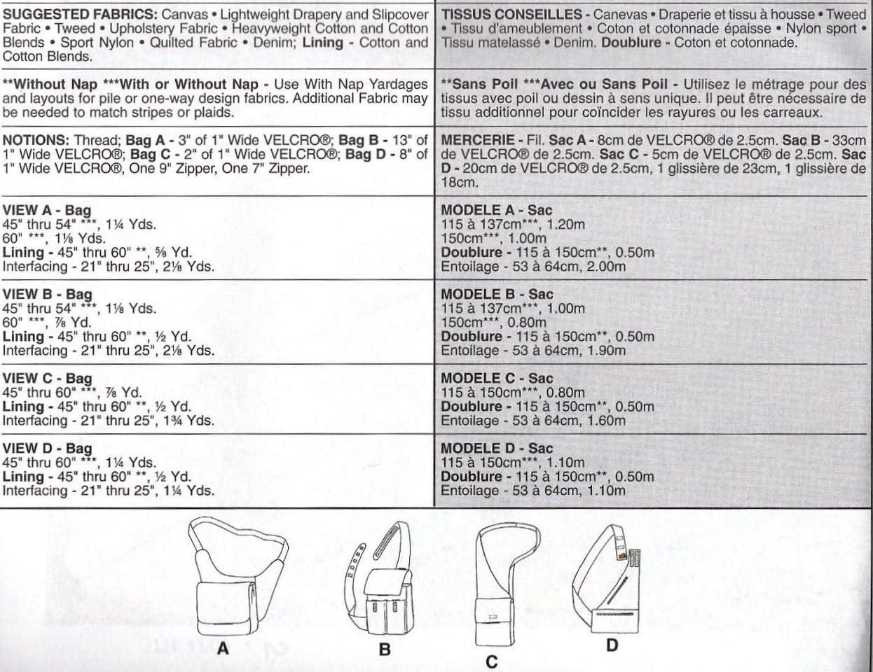 Amazon Com Mccalls Pattern 2933 Shoulder Handbags By