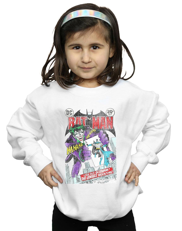 Absolute Cult DC Comics Fille Batman Joker Playing Card Cover Sweat-Shirt