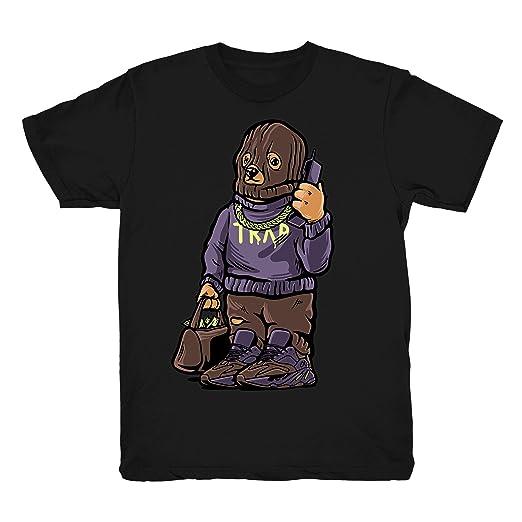 buy popular 57f28 625eb Mauve 700 Kanye Trap Bear Shirt to Match Yeezy Boost 700 Mauve Sneakers  Black t-Shirts