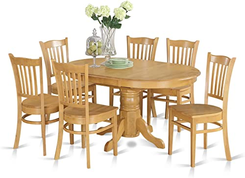 AVGR7-OAK-W 7 Pc formal Dining room'set