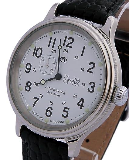 Vostok Retro Kirovskie K43 - Reloj militar ruso (2415 / 540851), color negro: Amazon.es: Relojes