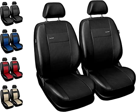 Carpendo Seat Covers Car Front Seats Car Seat Covers Protective Covers Front Side Airbag Suitable X Line Black Auto