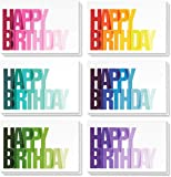 Birthday Card - 48-Pack Birthday Cards Box Set, Happy Birthday Cards – Ombre Happy Birthday Designs Birthday Card Bulk, Envelopes Included, 4 x 6 Inches