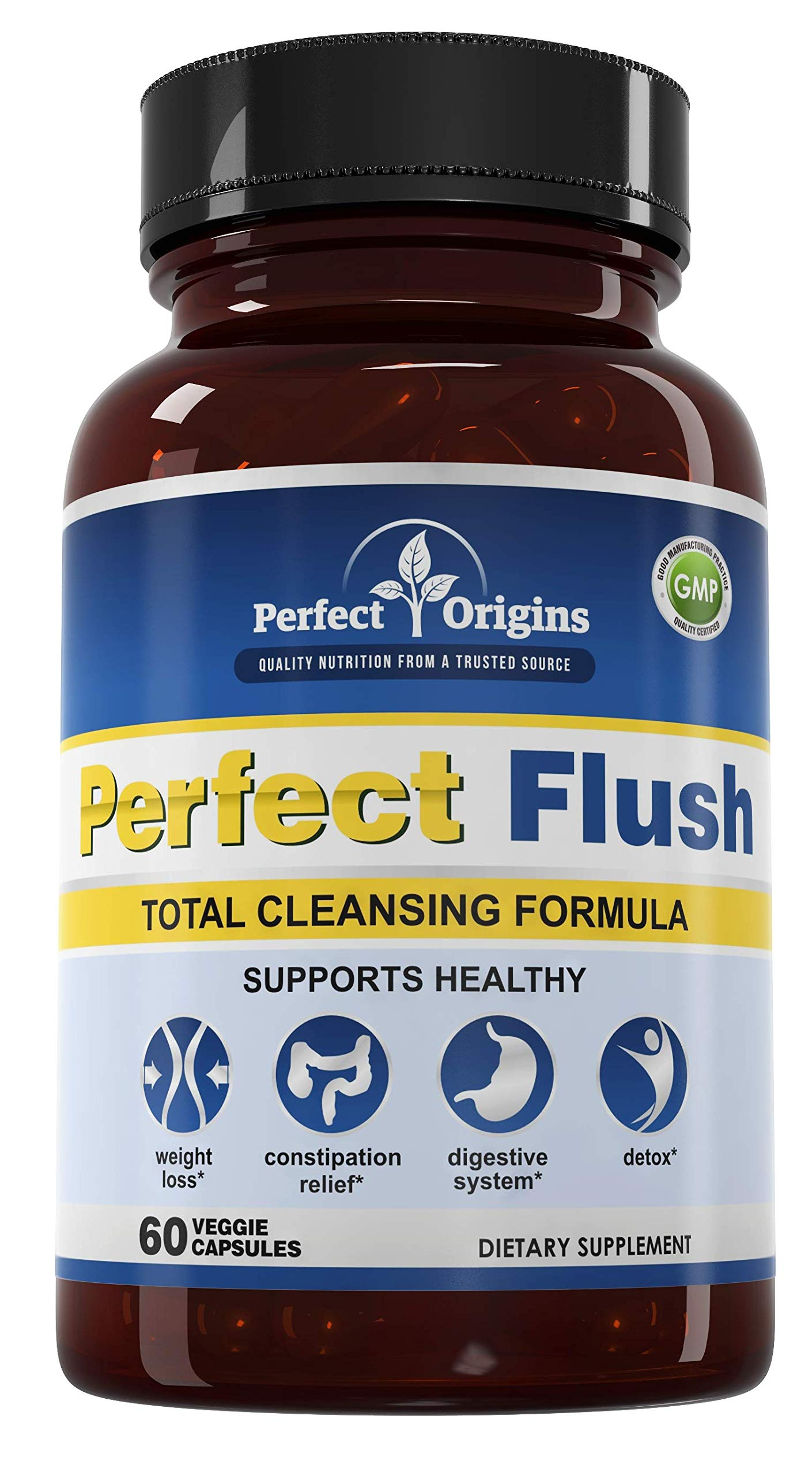 Perfect Origins Perfect Flush, Detox Capsules for Digestive Health and Weight Loss by Perfect Origins