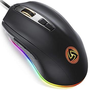 99f56004c LUDOS FLAMMA Ratón Gaming RGB 10.000 DPI 7 Botones Programables Gaming Mouse  USB Ergonómico con Cable