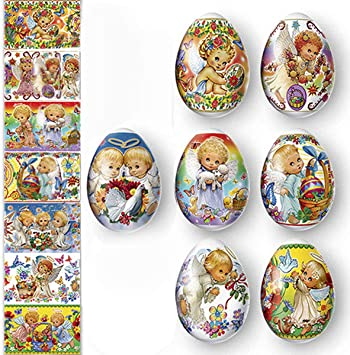 14 Easter Egg Wraps Sleeves Pysanky Stickers Pisanki