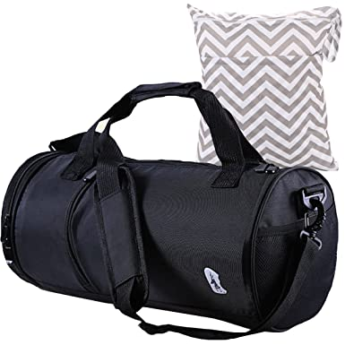 178dfe2ba863 Hit Color Swim Bag Travel Sports Gym Bag Waterproof with Dry Wet Area Shoes  Compartment for ...