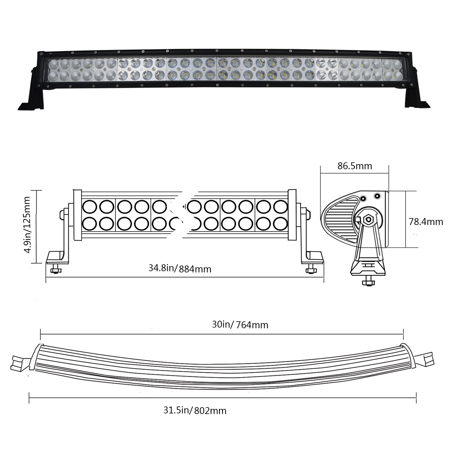 Willpower 10Pcs 4 inch Led Work Light Bar 27W 2200LM Driving Pods Flood Beam Work Lamp For Off-Road Suv Boat 4X4 Jeep JK 4Wd Truck 12V-24V 4333010435