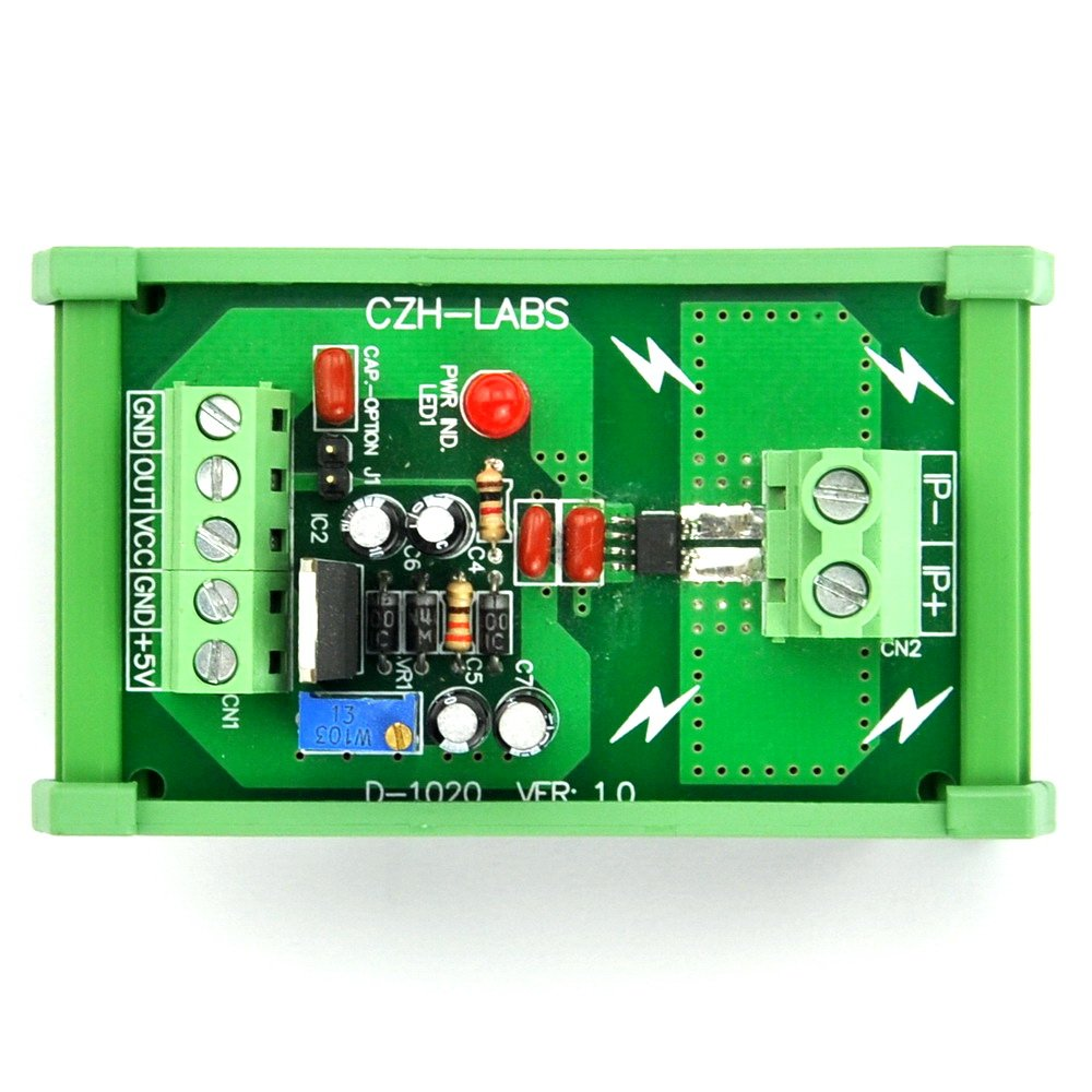 basado en ACS712 //-5amp AC//DC Corriente Sensor Module electronics-salon montaje en riel DIN