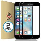 MANTO Screen Protector for iPhone 8 Plus 7 Plus 5.5-Inch Full Coverage Tempered Glass Film Edge to Edge Protection 2…