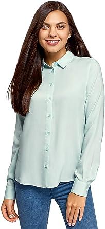 oodji Ultra Mujer Blusa de Viscosa B/ásica