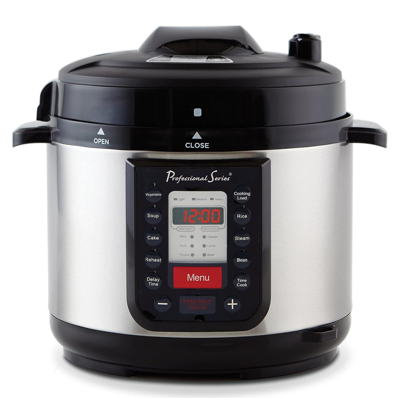 Continental Electric PS-PR218 Pressure Cooker, 5 Quart, Silver