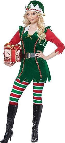 Christmas Toy Maker Elf Adult Costume Santa/'s Helper Outfit Workshop Green Red