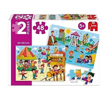 Diset - Set de 2 Puzzles, Parque acuático y Feria, 2 x 48 Piezas