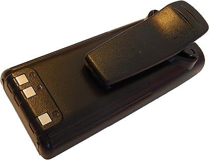 BP-222. IC-F11BR por BP-209 IC-A24E BP-210 7.2V IC-F11 IC-A6E con Pinza para cintur/ón para Radio iCOM IC-A24 IC-A6 vhbw NiMH bater/ía 2300mAh