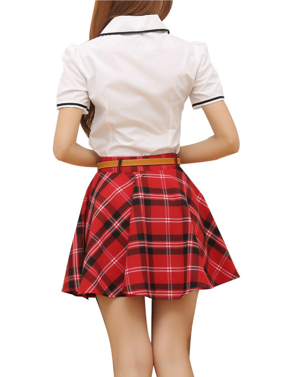 f5fa76f13484d Gihuo - Falda de tartán para mujer