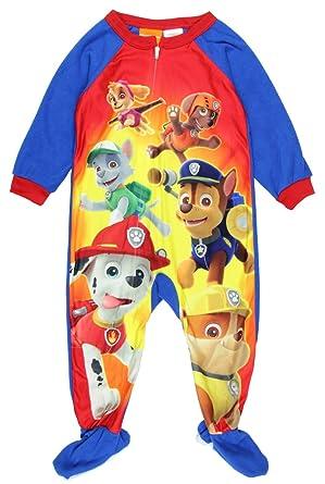 65af7fb7b Amazon.com  Paw Patrol Little Boy Toddler Micro Fleece Footed Pajama ...