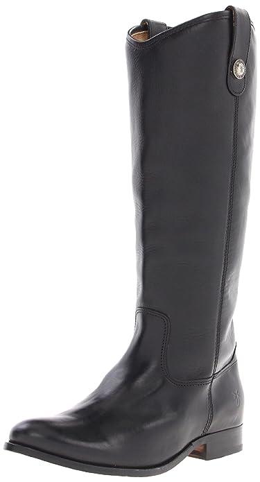 FRYE Women's Melissa Button Boot, Black Soft Vintage Leather, ...