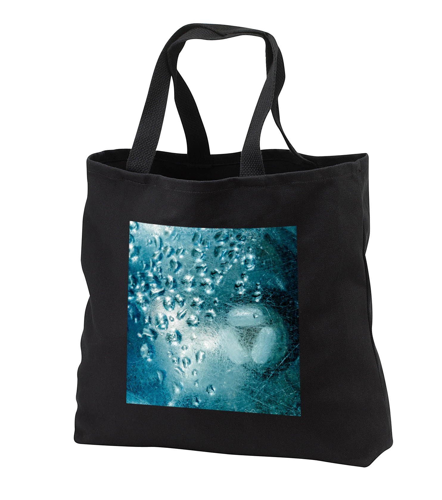 Alexis Photography - Texture Glass - Image of blue green grunge glass, condensate, industrial texture - Tote Bags - Black Tote Bag JUMBO 20w x 15h x 5d (tb_285767_3)