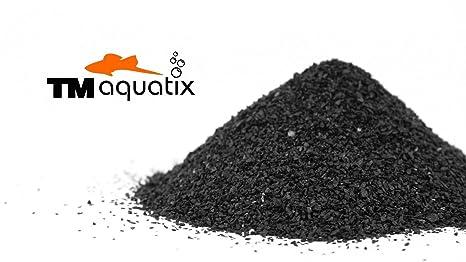 Sustrato de acuario natural negro de 30 kg (arena 1 – 1,6 mm