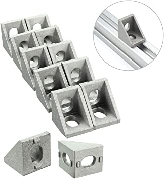 arbitrary angle bracket set corner L connector for 4040 series aluminum extrusion profile with 8 mm slot 4 pieces