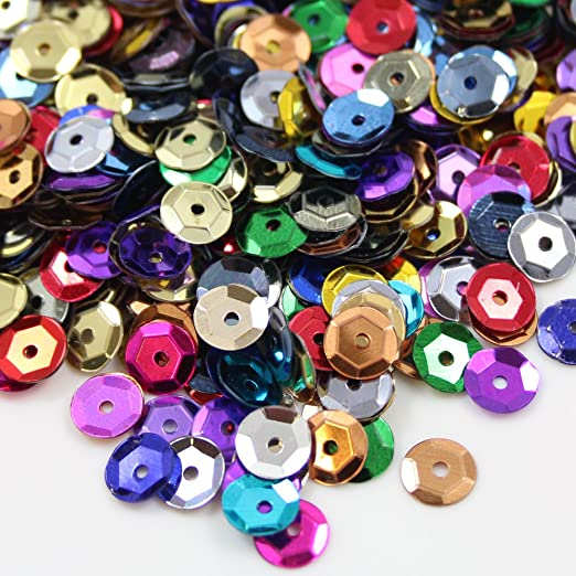 Beads4Crafts ROUND CUPPED SEQUINS 7mm EMBELLISHMENTS *32 COLOURS* SEWING CARD UK