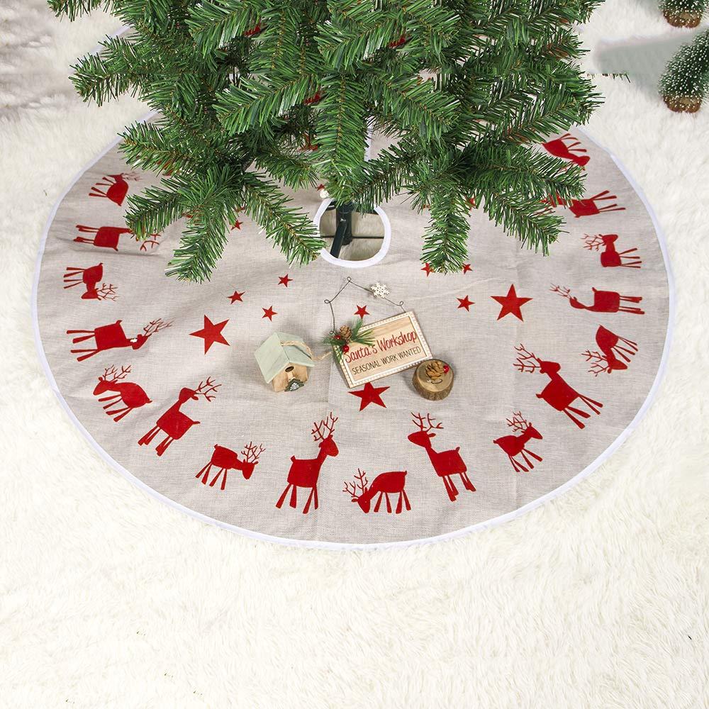 GIANTWINDA Árbol de Navidad Falda de árbol Decoración de Navidad ...