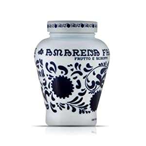 Fabbri Amarena Cherries from Italy Candied in Rich Amarena Syrup - Italian Specialty Stemless Wild Cherries for Sweet and Savory Dishes, Cheeses, Desserts, and Cocktails, 21oz
