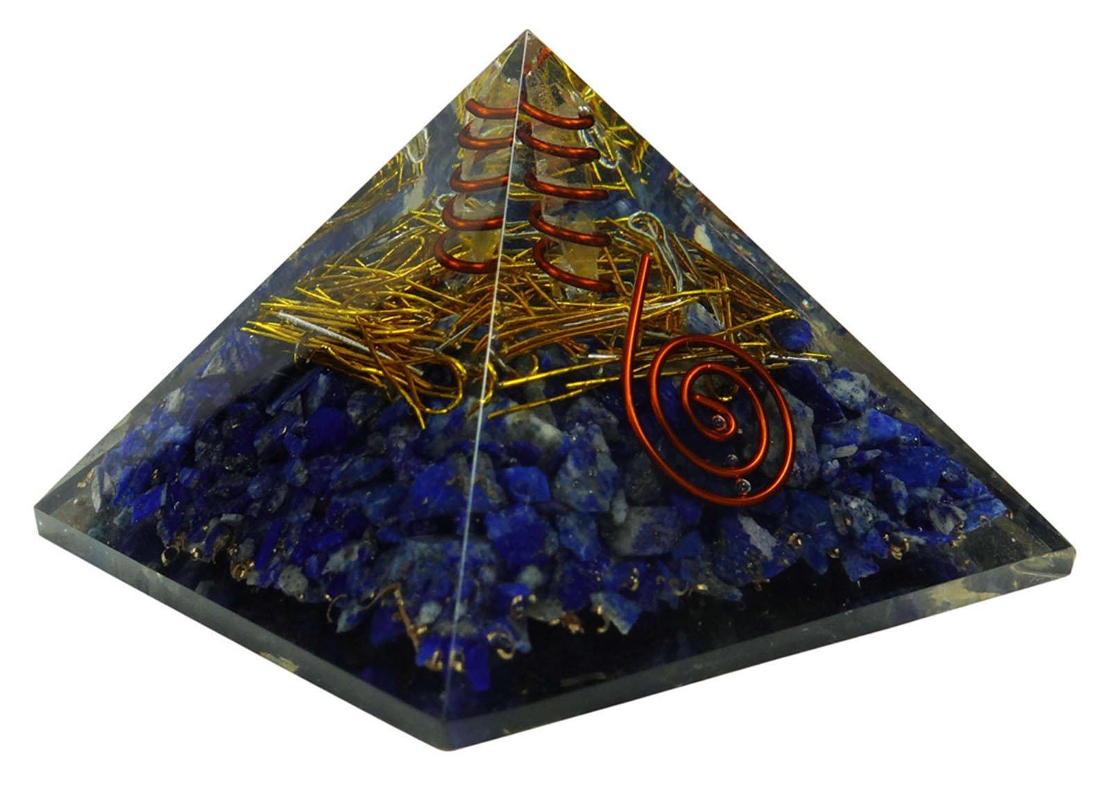 Harmonize Lapis Lazuli Pyramid Orgone Reiki Healing Crystal Chakra Balancing Therapy Energy Generator