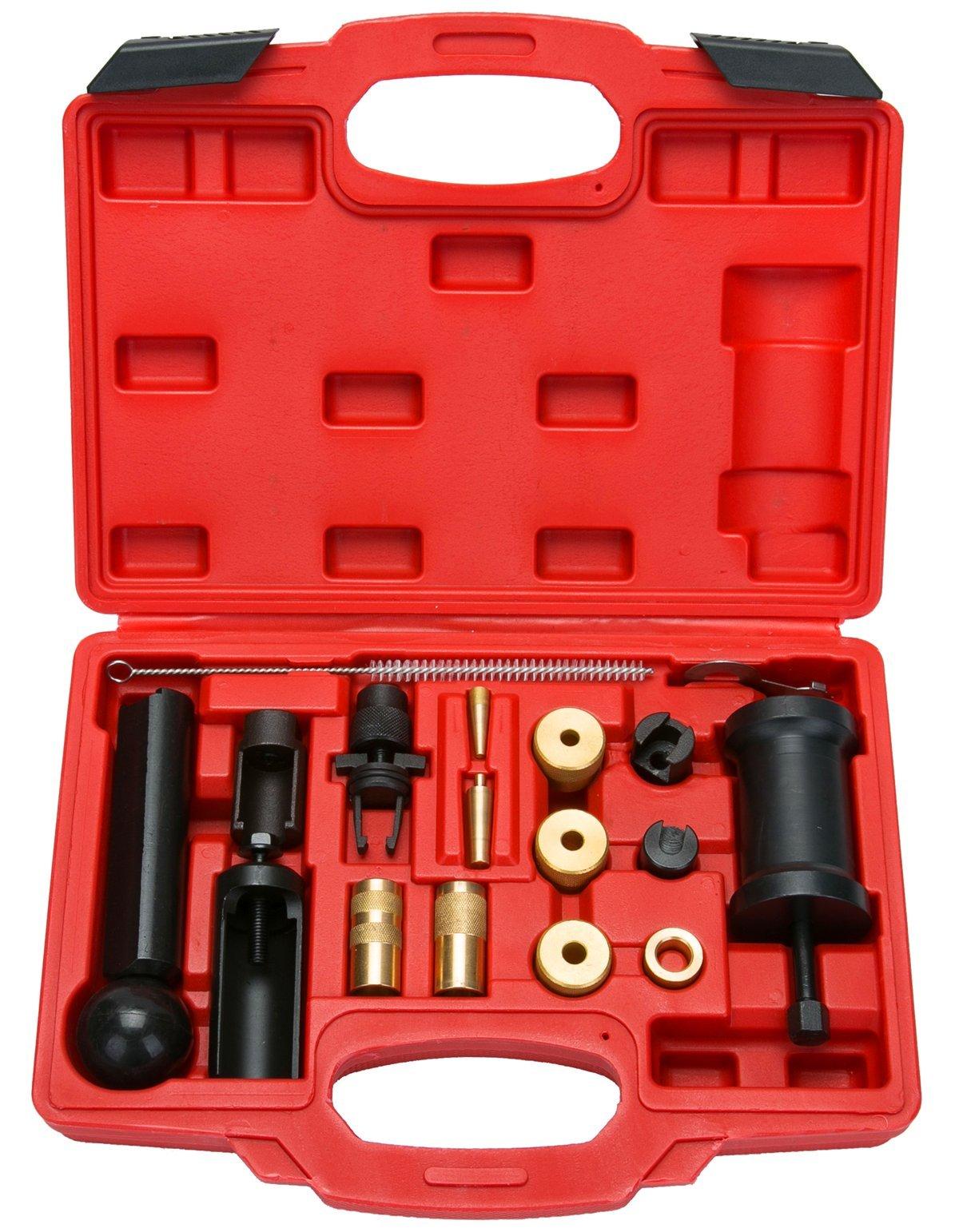 8milelake 18pcs Injector Remover Puller Set VAG VW Car Repair Garage Installer Tools Kit