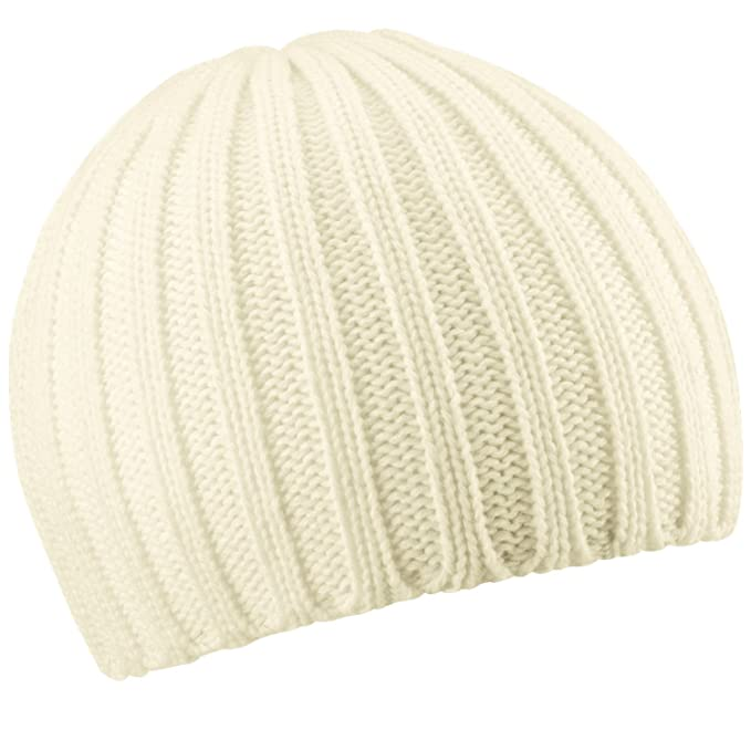 e5de98bd9a9 Beechfield Chunky knit beanie Off White  Amazon.co.uk  Sports   Outdoors