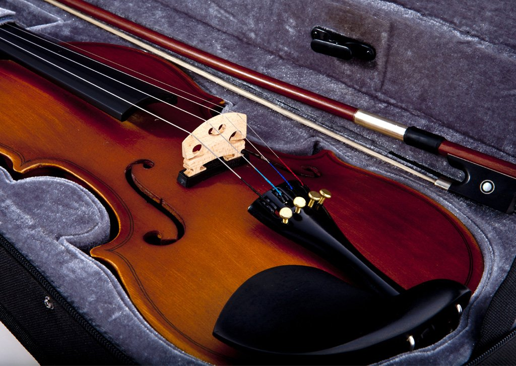 Fever Acoustic Electric Violin, Full Size 4/4, Case, Bow by Fever