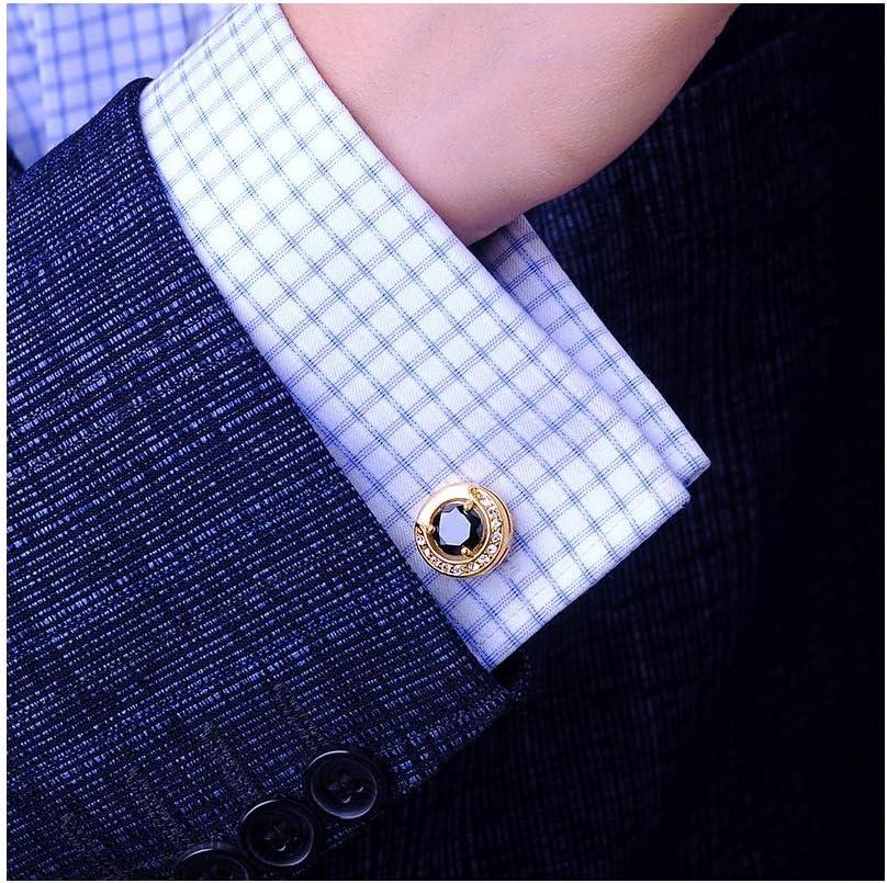 SWNSXK Camisa Gemelos para Hombres Botones De Puño Oro ...