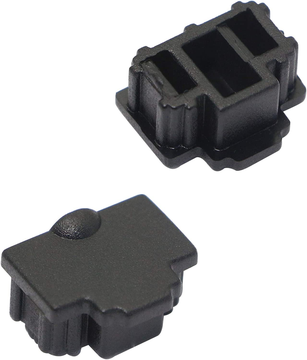 50PCS RJ45 Anti Dust Cover Cap Protector Protects Ethernet Hub Port by FENGQLONG Black-Small