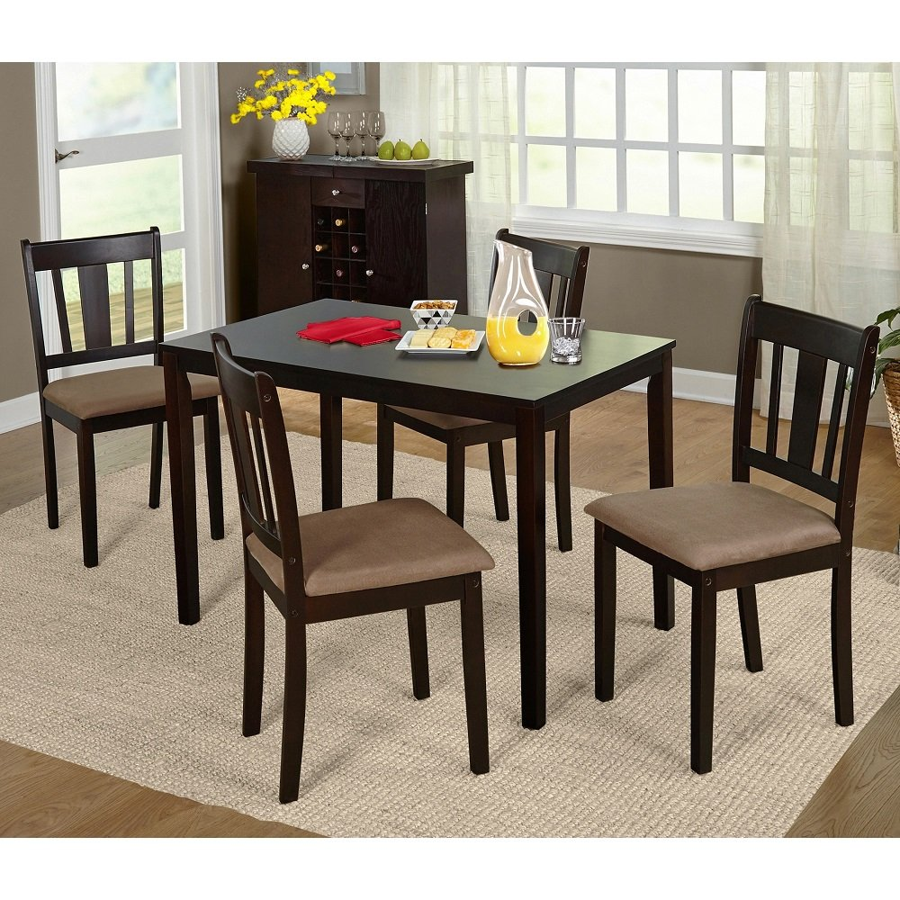 amazon com simple living stratton 5 piece dining set table amazon com simple living stratton 5 piece dining set table chair sets