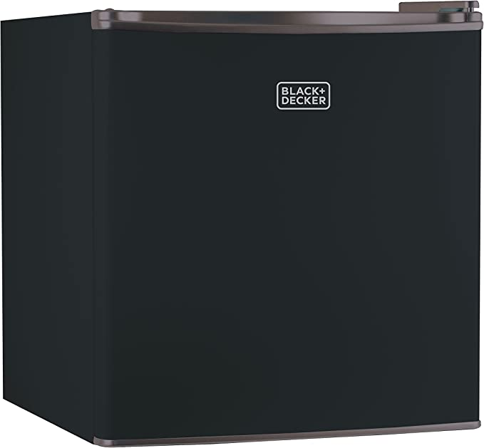 BLACK+DECKER BCRK17B Compact Refrigerator Energy Star Single Door Mini Fridge with Freezer