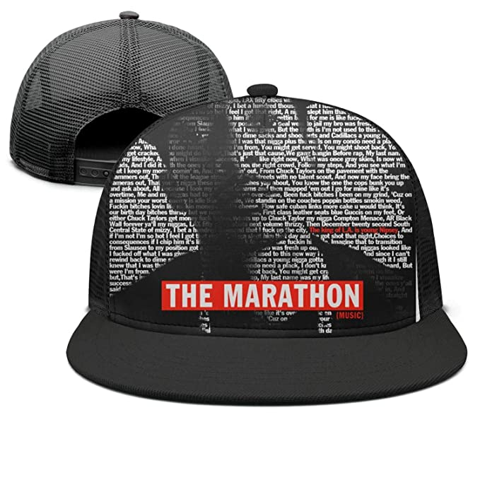 834fda4eb9 Mens and Womens Nipsey Hussle The Marathon Trucker Flat Baseball  HatAdjustable Casual