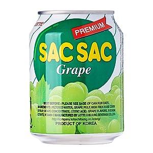 Lotte, Sac Sac Juice, Grape With Extra Pulp, 8 oz