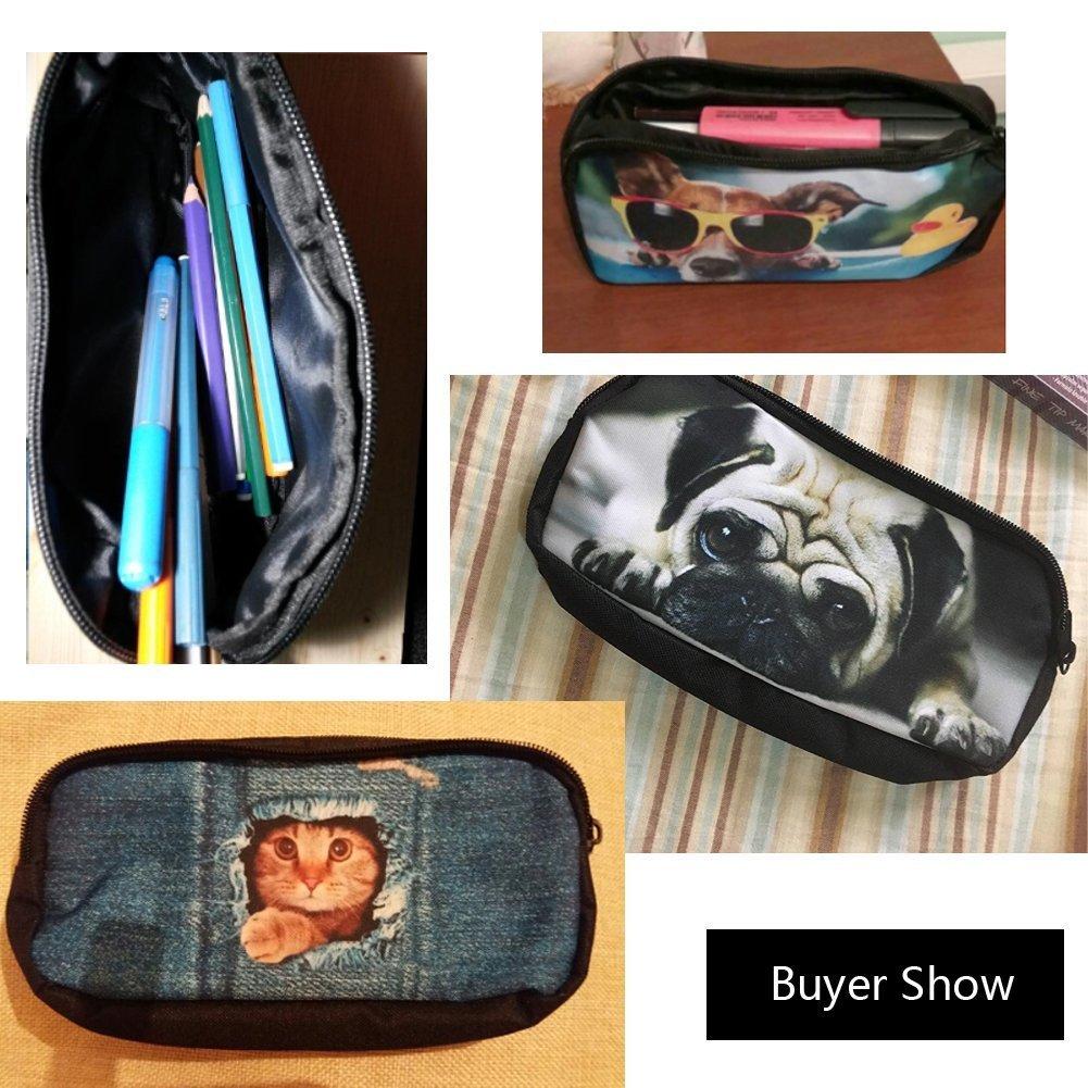 Nopersoanlity Cute Junior Primary Boys Puppy Pug Dog Pencil Bag Creative Pen Holders