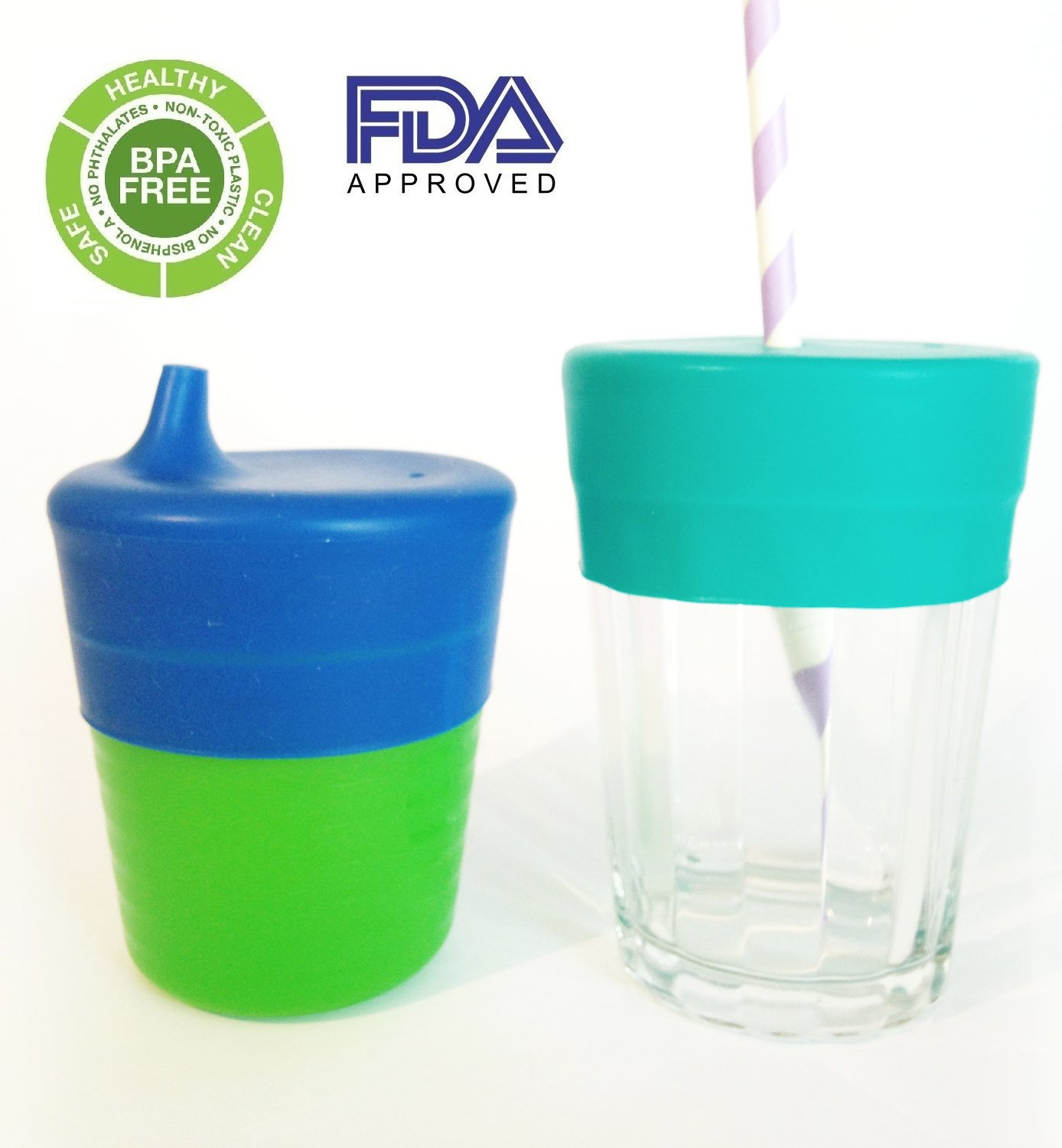 Food Grade Stretchable Cup Cover Sippy Bottle Water Straw Silicone Lids