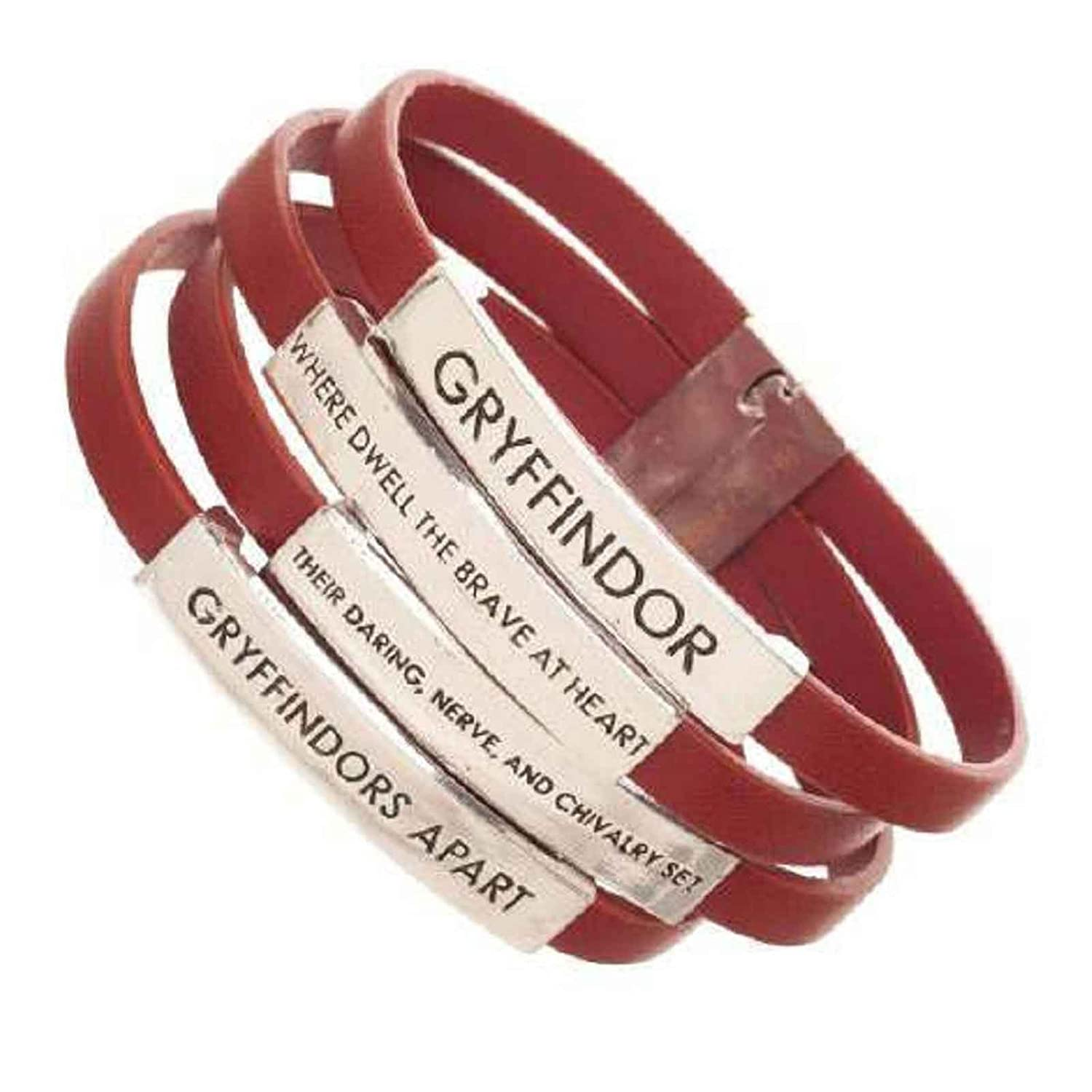 Harry Potter Wristband House Gryffindor Quotes Official Red 4x One